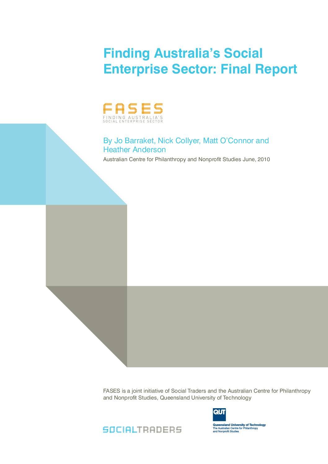 Finding Australia's Social Enterprise Sector