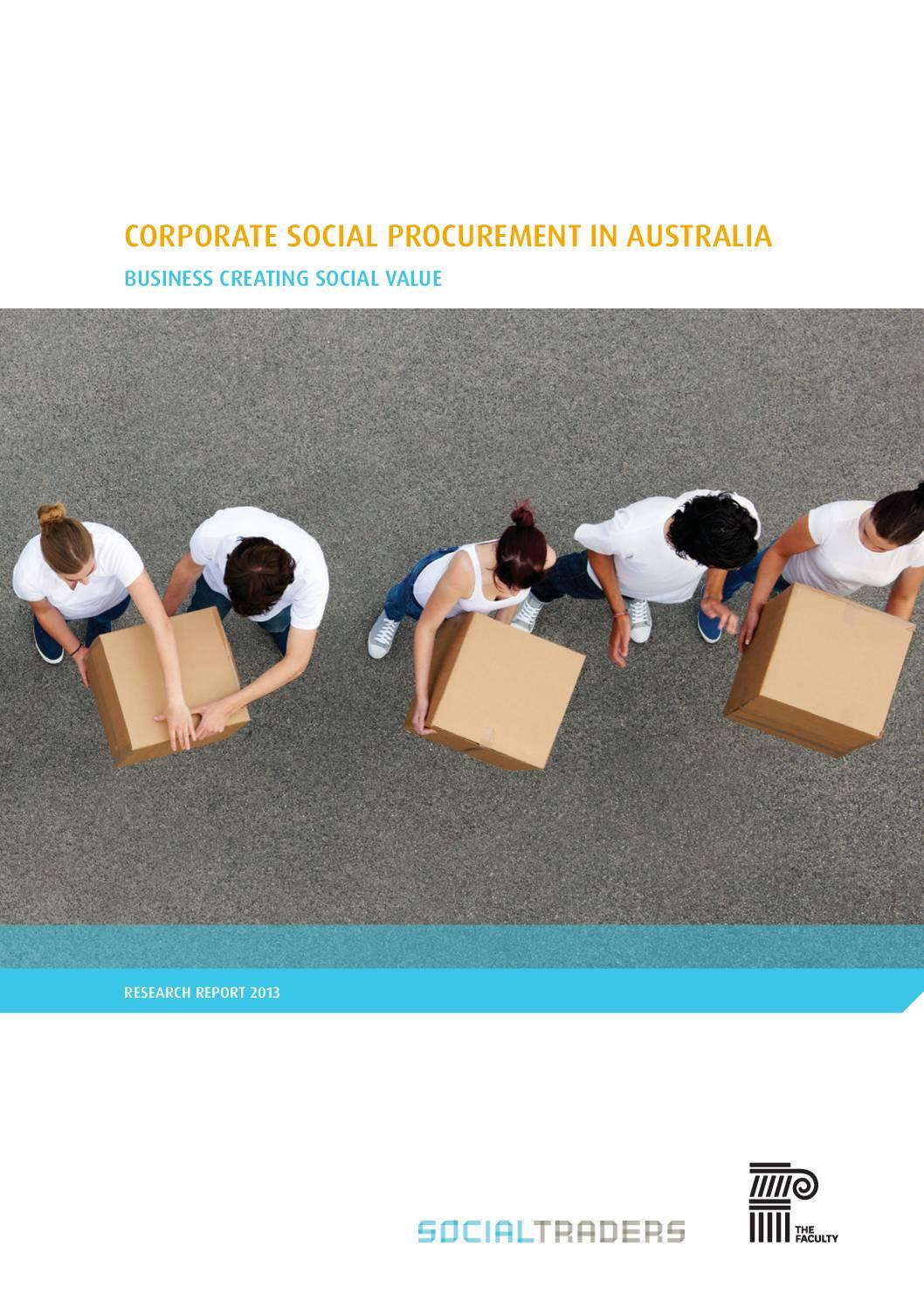 Corporate Social Procurement in Australia