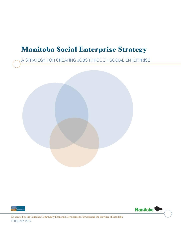 Manitoba's Social Enterprise Strategy