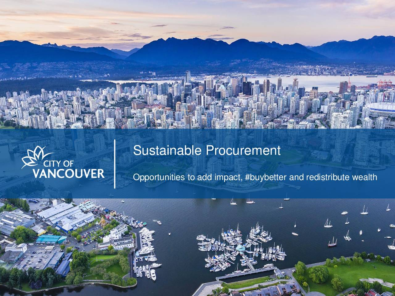 City of Vancouver Sustainable Procurement Overview
