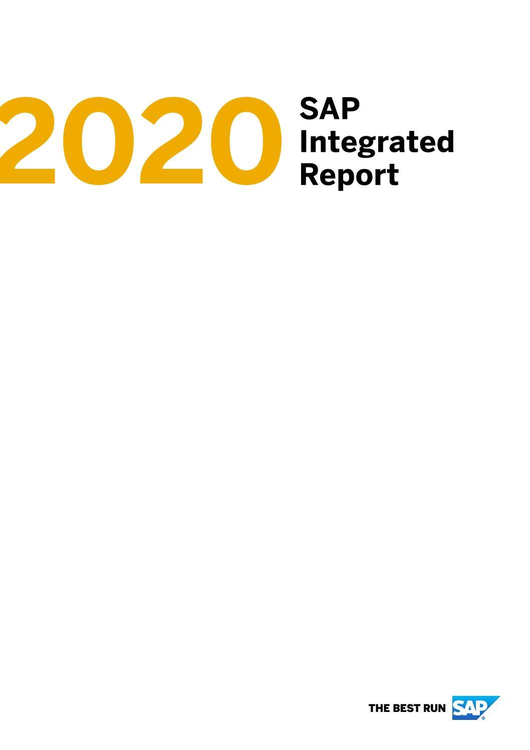 SAP 2020 Integrated Report