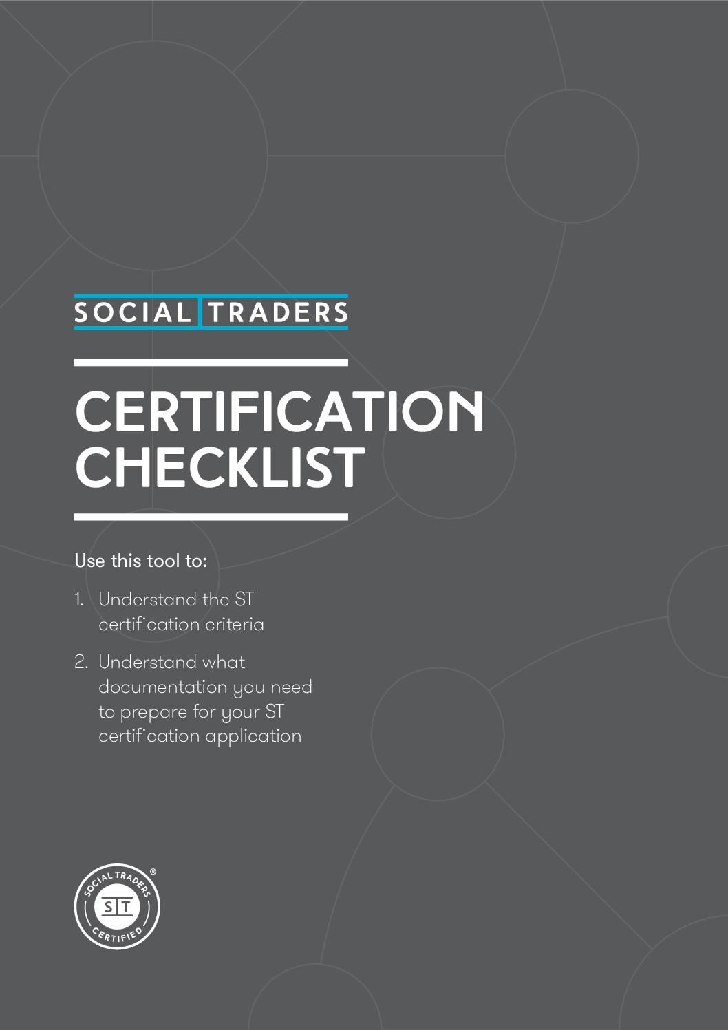 Social Traders Certification Checklist