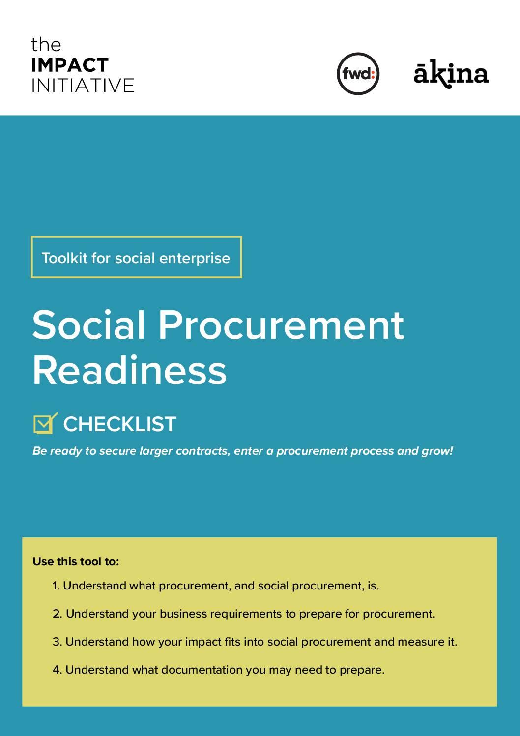Social Procurement Readiness Checklist for Social Enterprises