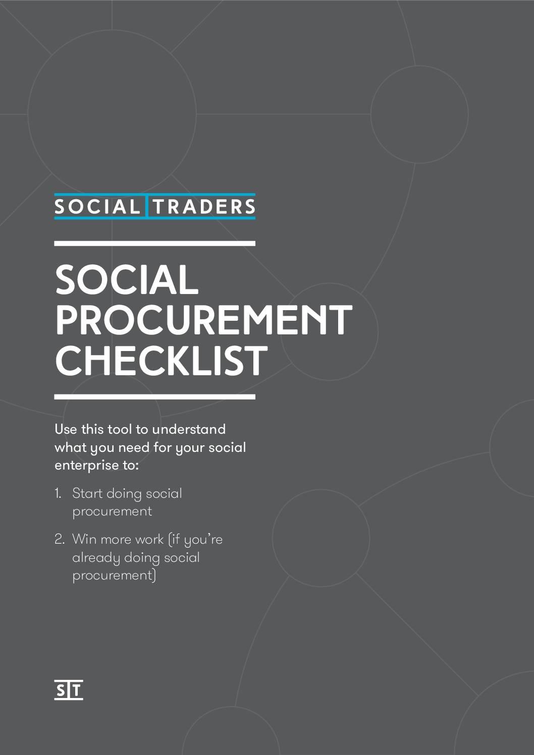 Social Procurement Checklist for Social Enterprises