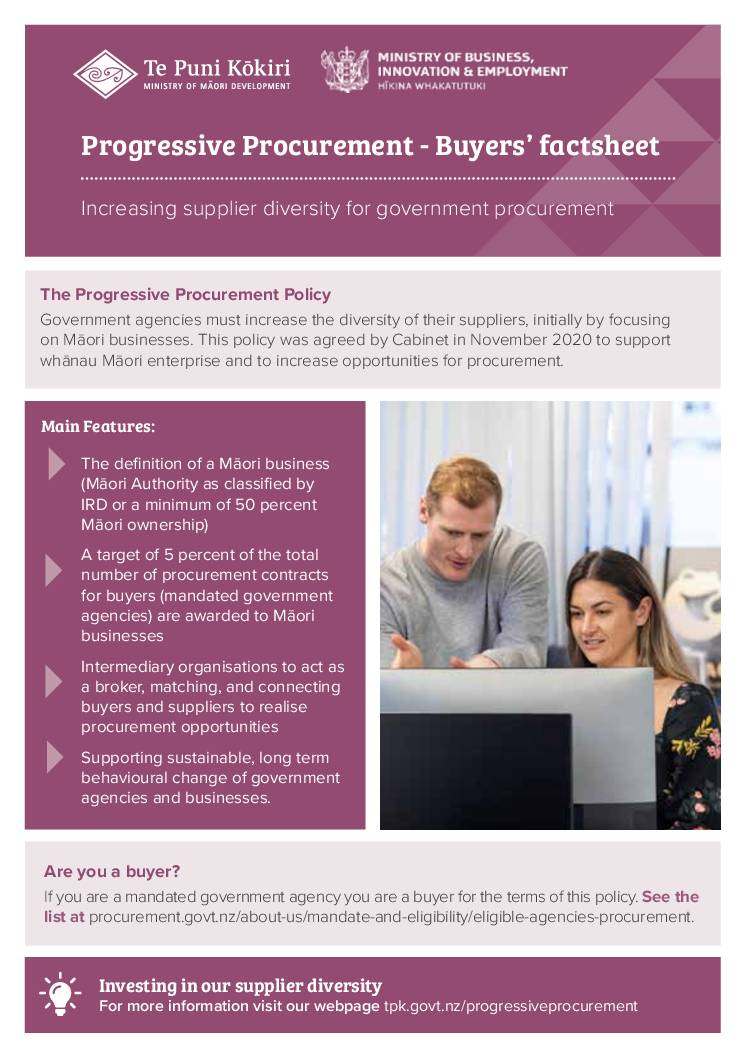 Progressive Procurement: Buyers' factsheet