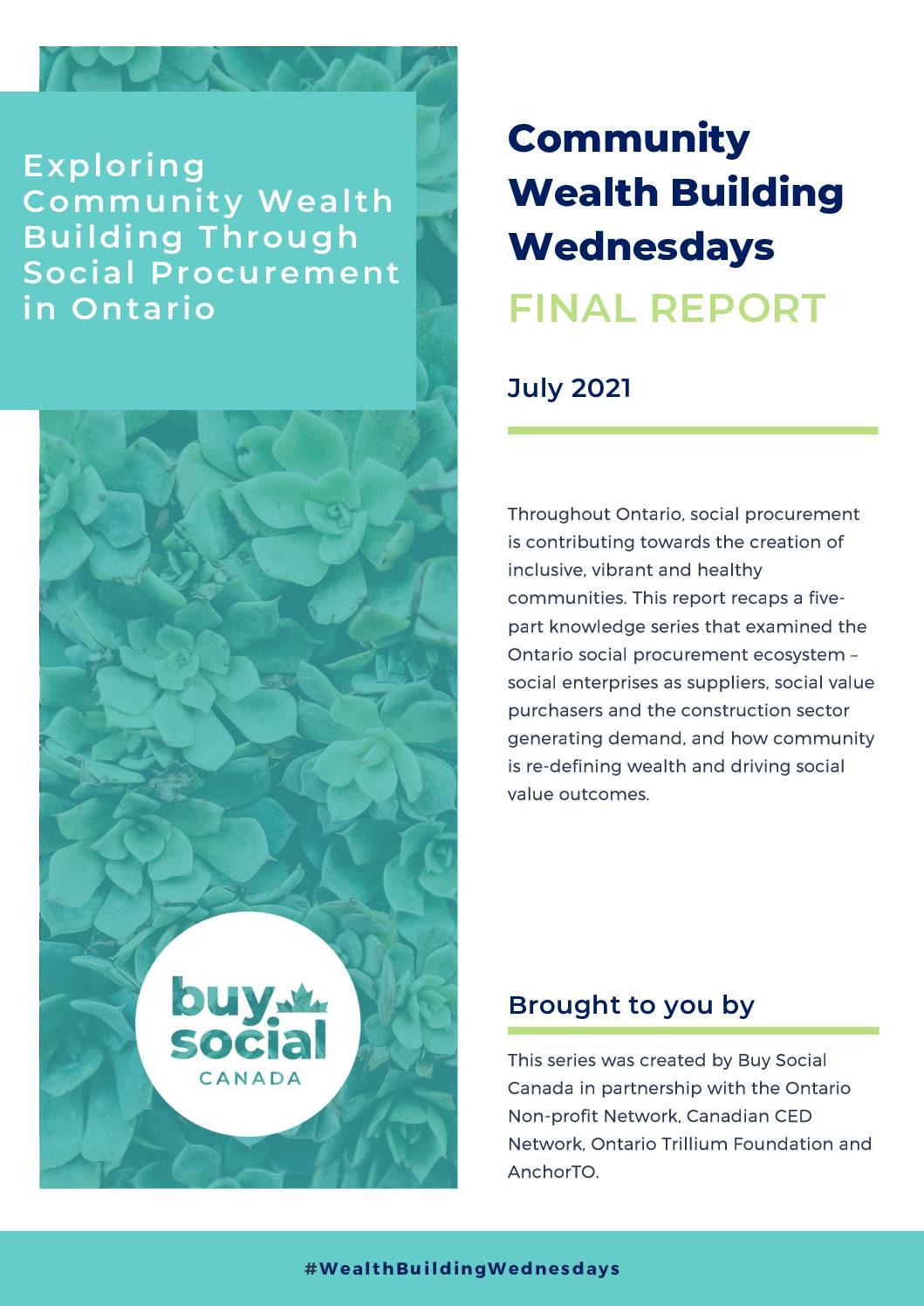 Exploring Community Wealth Building Through Social Procurement in Ontario — Final Report