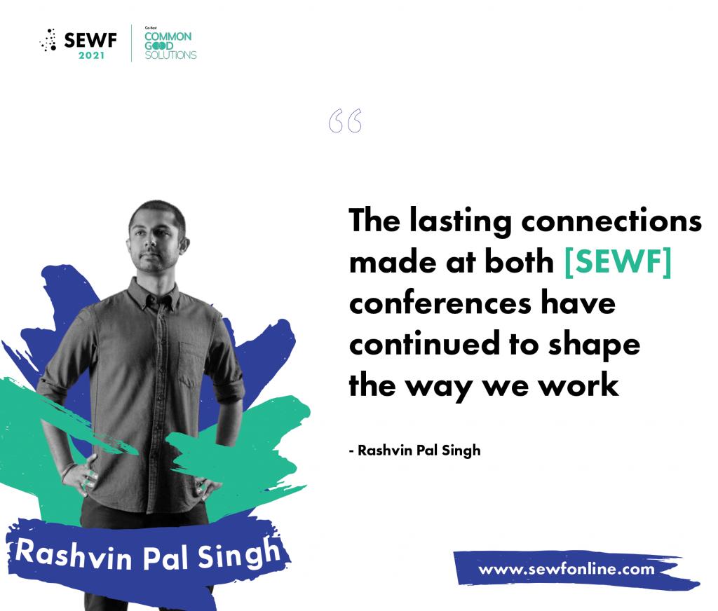 Rashvin Pal Singh on SEWF quote